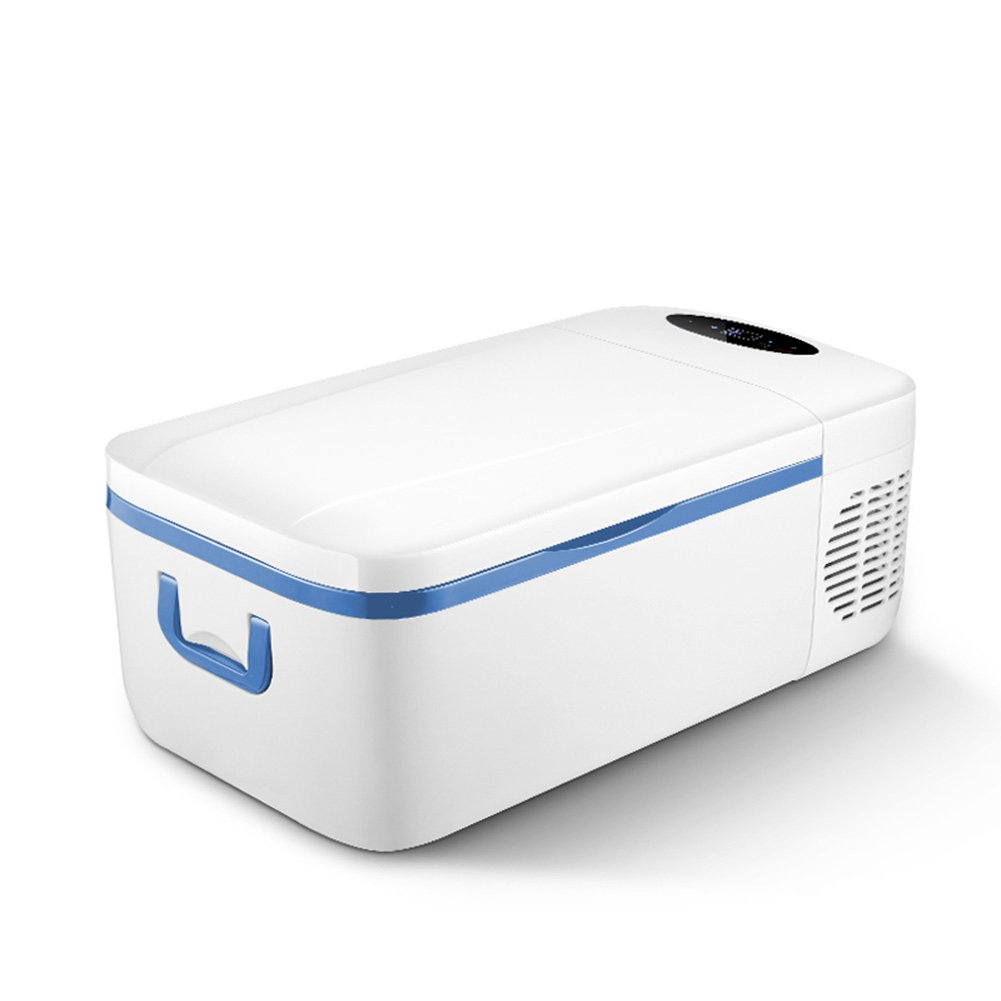 LIQICAI 12L Elektrische Kühlbox Auto Tragbar Mini Kühlschrank Kompressorkühlung, 12V DC (Auto)/24V DC (LKW)/220V AC (Zuhause) Die Kühltemperatur Kann auf -18°C Gesenkt Werden