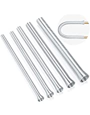 PAGOW Spring Tube Benders 5 Pcs Set for Pipe O.D. 1/4, 5/16, 3/8, 1/2, 5/8 Inch, 5 in 1 Tube Bender Kit for Copper Aluminum Thin Wall Steel Tubing