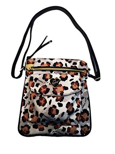 Betsey Johnson Women's Nylon Mush Crossbody/Xbody Handbag (Tan Leopard)