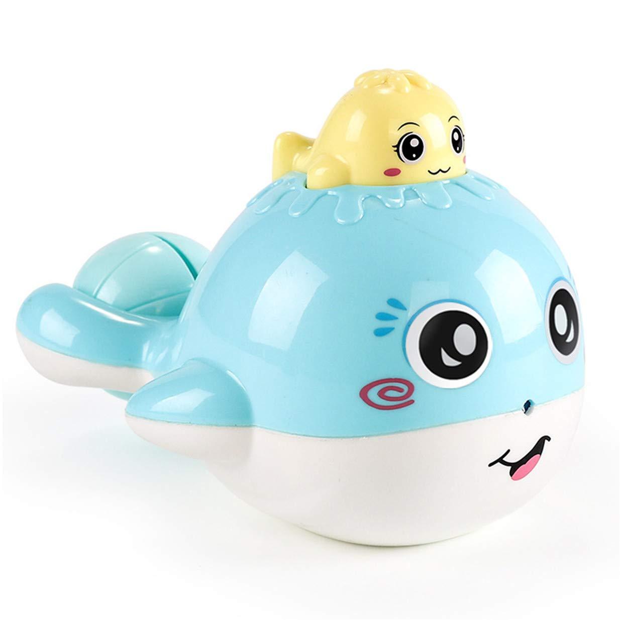 EJY Bébé Bleu Petite Baleine Enfant Jouet de Bain Douche Pulvérisation d'eau Baignoire Jouet d'eau 88_Store