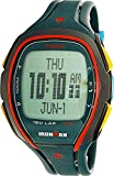 Timex TW5M007009J Ironman Sleek 150 Men's Digital Display Watch, Green Resin Band, Oval 46mm Case
