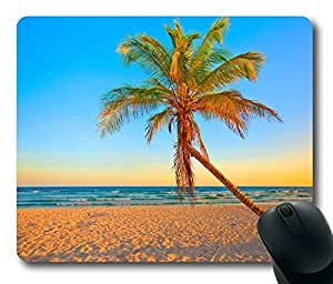 Rectangle mouse pad Diy Design Tropical Beach Golden Sunshine