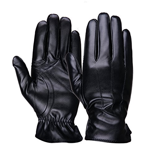 7be36863e17 Luxina Winter Warm Gloves Touchscreen Texting Gloves Faux Leather Outdoor  Cycling Driving Gloves For Men
