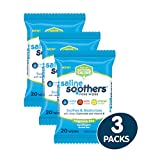 Saline Soothers Wipes Soft Natural Saline Wet Tissues for Face and Nose with Moisturing Aloe, Chamomile, and Vitamin E, Fragrance Free, 60 Count