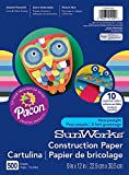 Pacon SunWorks Construction Paper, 9-Inches by 12-Inches, 500-Count, Assorted (CON01500)