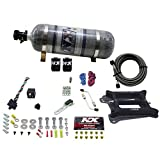 Nitrous Express 30040-12 4150 50-300 HP 4-BBL Gasoline Conventional Stage 6 Plate System with 12 lbs.Composite Bottle