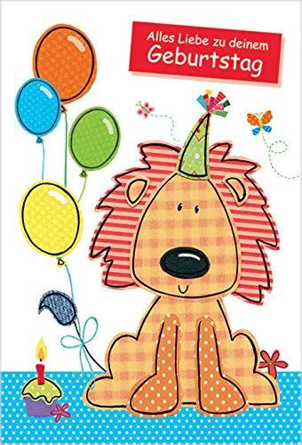 Cumpleaños Infantil león - Tarjetas de felicitación: Amazon ...