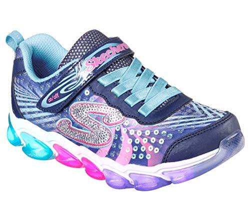 Skechers Kids Girls' Jelly Beams Sneaker, navy/multi, 5 Medium US Big Kid ()