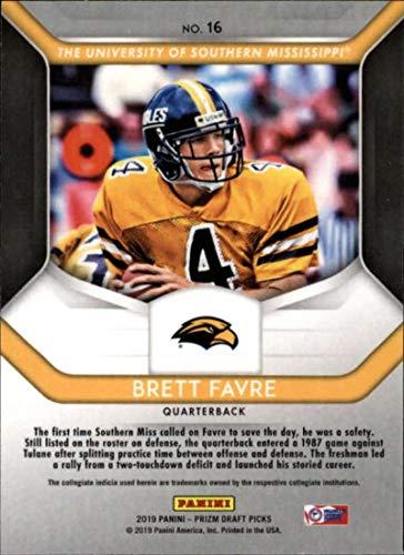 detailed look 02a6a 6e08f Amazon.com: 2019 Prizm Draft Picks Football #16 Brett Favre ...