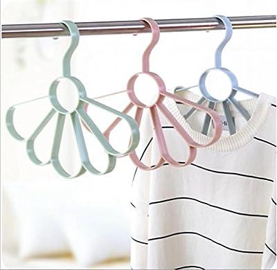 WWZY Plastic Fan shaped Plain colour Necktie Scarf rack Multi function Hanger Tie Belt Drying Rack Housewear (pack of 20)