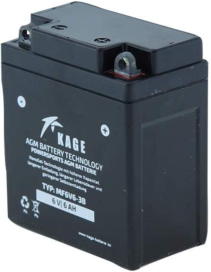 Battery Gel Kage Type 6n6 3b Din 00612 Mf6v6 3b Auto