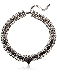 """All Around Crystal and Faceted Resin Statement Necklace, 18"""""""