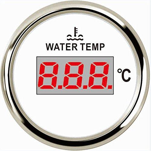 1pc Digital Water Temp Gauge Tuning 52mm 40-120 Degree Indication Range Water Temperature Meter with Sensor - Range Tuning