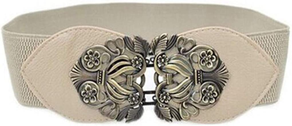 Faux Leather Belt Women Bow Casual Solid Automatic Vintage Buckle Waist Strap Belts