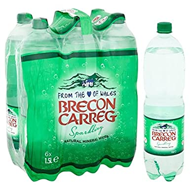 567d6f6347 Brecon Carreg Natural Sparkling Mineral Water 6 x 1.5L: Amazon.co.uk:  Grocery