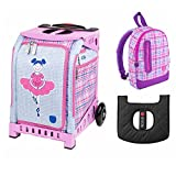 ZUCA Kids' Mini Ballerina Bag / Pink Frame + Backpack and Seat Cushion