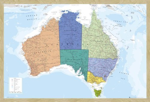 Australia map pin board framed in oak wood includes pins 965 x australia map pin board framed in oak wood includes pins 965 x 66 cms sciox Images