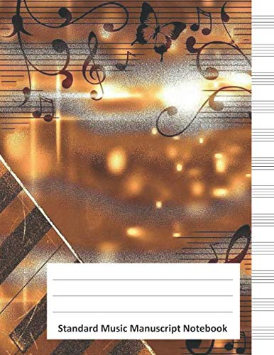 Standard Music Manuscript Notebook: Generic Music Staff Paper Notebook (12 Stave) for Music Lovers and Composers ()