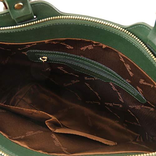 Verde Viola in mano Leather Borsa pelle a Tuscany Bag TL Saffiano TL141696 YPAvqAXWH