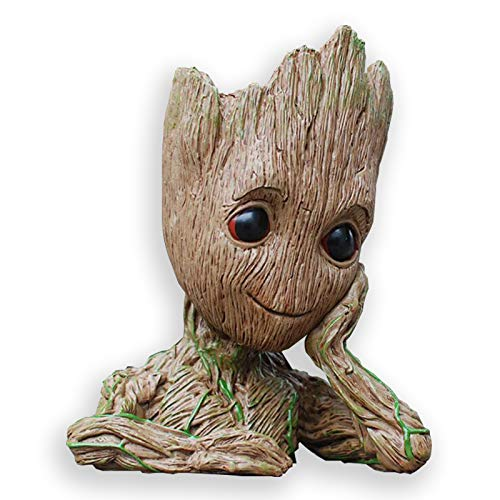 Best Quality - Action & Toy Figures - Guardians of The Galaxy Baby Flowerpot Tree Man Action Figures Model Toys Cute Pen Pot Flower Pot Home Decor Christmas Gift Toys - by ORSTAR - 1 PCs