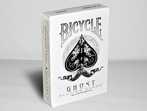Bicycle Ghost Playing Cards by Ellusionist – White – Thick Stock