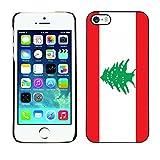 STPlus Lebanon Lebanese Flag Hard Cover Case for Apple iPhone SE / 5 / 5S