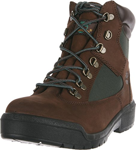 "Timberland Men's Field Boot 6"" F/L Waterproof Chocolate Old River Nubuck Boot 10.5 D (M)"