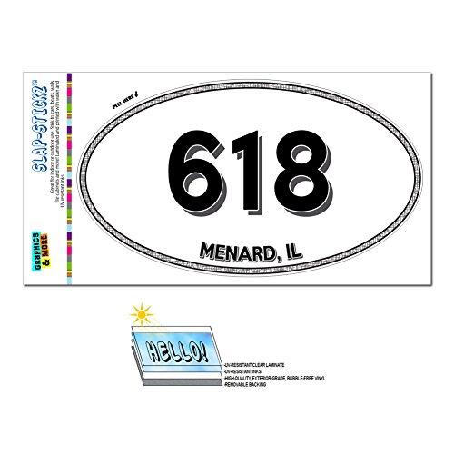 graphics-and-more-area-code-euro-oval-window-laminated-sticker-618-illinois-il-marine-pierron-menard