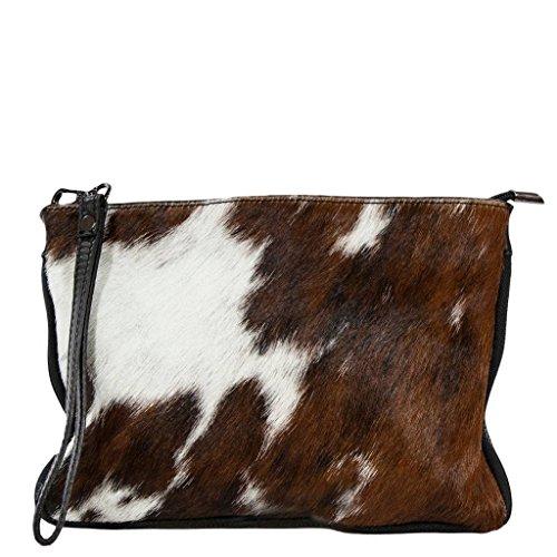 SASSARI Carelli Italia Clutch Exclusive Italian Leather / Pony Hide, Cow (Cow Hide Bag)