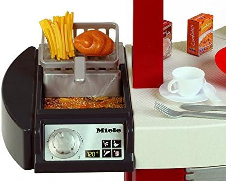Theo Klein 9125 Cocina de Miele Cocina para niños que se puede utilizar por ambos lados, Placa de cocción con sonido y numerosos accesorios, a partir de 3 años, 137 cm x