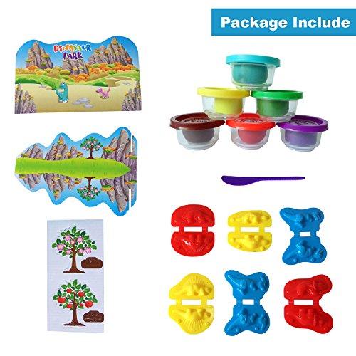 Suprbird Kids Dough Dinosaur Playset Toys Diy Clay And Molds Set