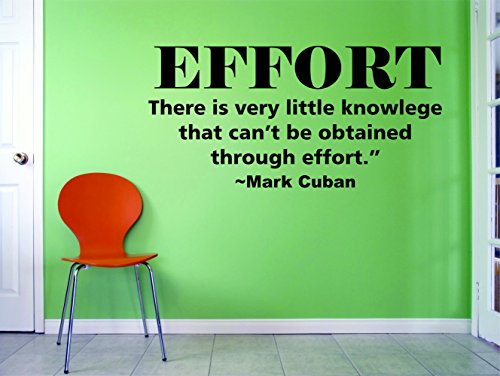 Design with Vinyl MARK CUBAN QUOTES/Inspirational Quote/Business Entrepreneur Development Mind Set/Self Help/Shark Tank/Vinyl Wall Decal Sticker for Office Bedroom EFFORT Size 20x20 inch by Design with Vinyl