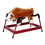 Qaba Kids Plush Spring Horse-Style Rodeo Bull w/ Realistic Sounds