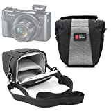 DURAGADGET Shock-Absorbing, Water-Resistant Cross-Body/Shoulder Bag - Compatible with The New Canon PowerShot G7 X Mark II   PowerShot SX720 HS Cameras (with Bonus Cleaning Cloth)
