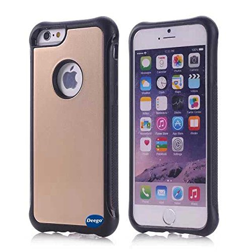 iPhone 6 Case,Nancy's Shop *New* Fashion Scratch Resistant Premium Protection Scratch ,Protection Scratch Proof Soft Interior with Hard Shell Solid Polycarbonate Back Case,Rubber Armor Defender - Slim Case Cover for iPhone 6 (4.7) (2014) Smartphone with small gift for Screen Protector (Gold Best iPhone 6 Case)