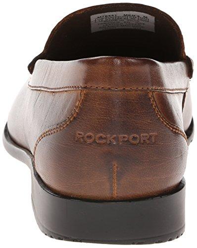Rockport Mens Classic Lite Veneziano Slip-on Mocassino Marrone Scuro