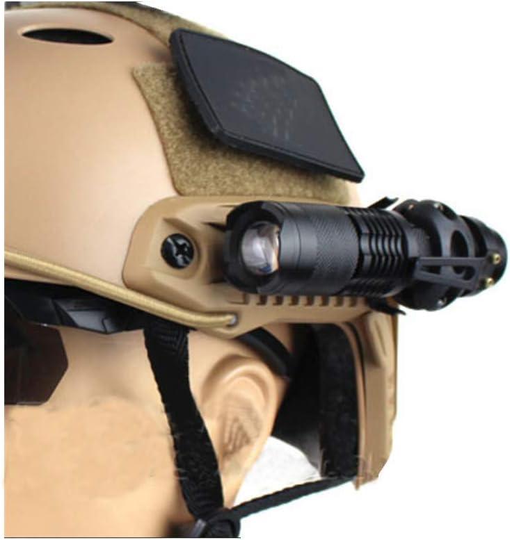 haoYK Quick Release 1.2 Lampe de Poche Pince de Maintien Support de Montage Casque Tactique Accessoires pour Mich Rapide Casque c/ôt/é Rail Noir