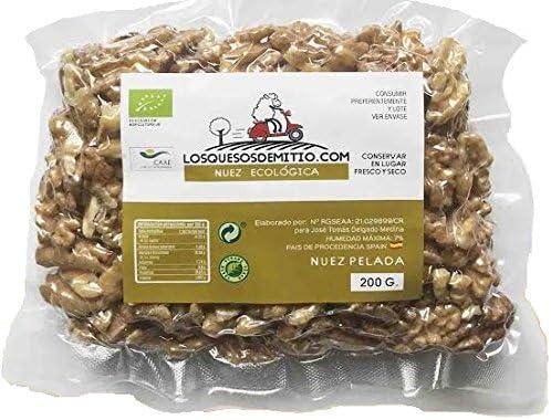 Nueces ecológicas peladas, deliciosas y saludables de Losquesosdemitio, crudas, sin sal añadida, cultivadas en España (tres bolsas, 600g): Amazon.es: Alimentación y bebidas