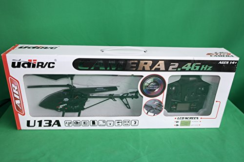 New with Video Camera! UDI U13A 3 Channel 2.4GHz Metal RC Helicopter w/ Video Camera