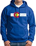 New York Fashion Police Colorado State Flag Vintage Print Hoodie