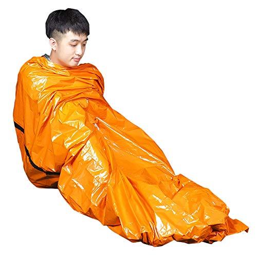 Euone  Sleeping Bag, Outdoor Emergency Sleeping Bag Warm Waterproof Survival Camping Travel Portable ()