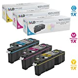 LD Compatible Toner Cartridge Replacement for Xerox Phaser 6022 & WorkCentre 6027 (Cyan, Magenta, Yellow, 3-Pack)