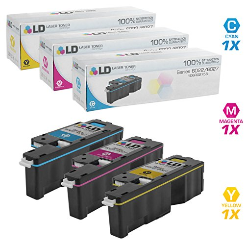 Compatible Xerox 6022/6027 3PK Toner Cartridges: 1 106R02756