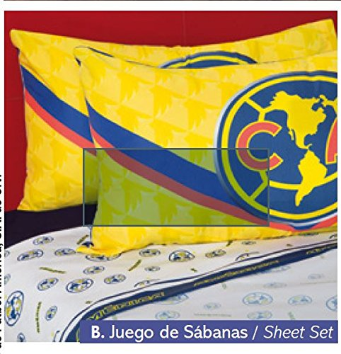 Club America Fuzzy Fleece Blanket 100% Polyester Queen Size and 4Pc Sheet Set by JORGE'S HOME FASHION
