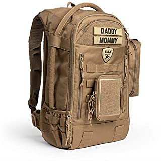 Tactical Baby Gear Daypack 3.0 Tactical Diaper Bag Backpack Combo Set (Coyote Brown)