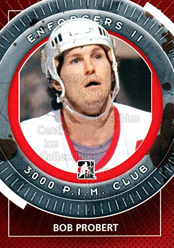 (CI) Bob Probert Hockey Card 2013-14 ITG Enforcers (base) 104 Bob Probert