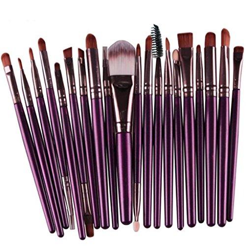 Lucoo Fashion 20 pcs/set Makeup Brush Set tools Make-up Toiletry Kit Wool Make Up Brush Set - Face Best Nose Long For Shape