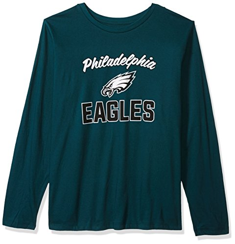 Scoop L/s Tee - NFL Philadelphia Eagles Women L/S SCOOP NECK TEE, TEAL, 4X