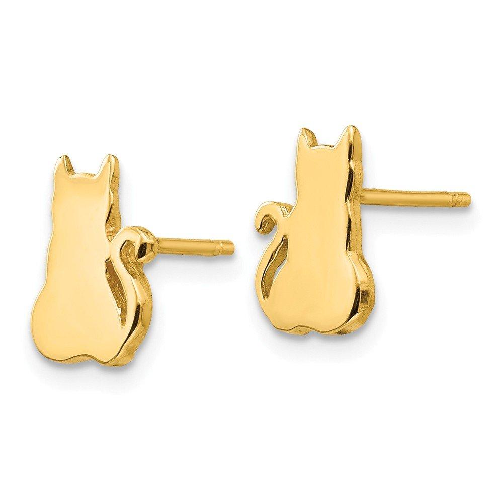 14K Cat Earrings