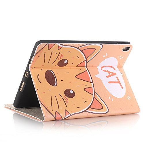 10.5 inch iPad Case Pro 10.5 Sleeve,TechCode Luxury Cute Cartoon Pattern Folio Stand Protective Case PU Leather Book Cover With Credit Card Slots & Pencil Holder Slim Fit for Apple iPad Pro 10.5 inch by TechCode (Image #6)